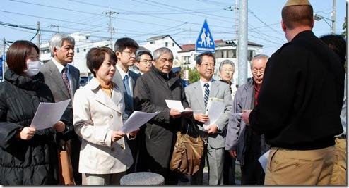4月2日厚木基地抗議