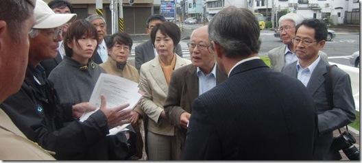 5月22日厚木基地抗議
