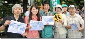 千葉斉藤候補と青年たち