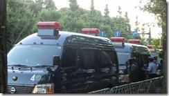 8月3日官邸前②警察車両