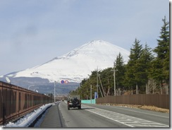 1月17日キャンプ富士からの富士山